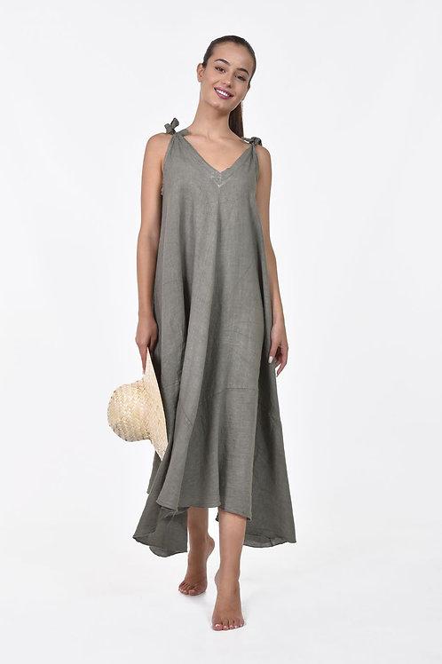 Oversized λινό φόρεμα