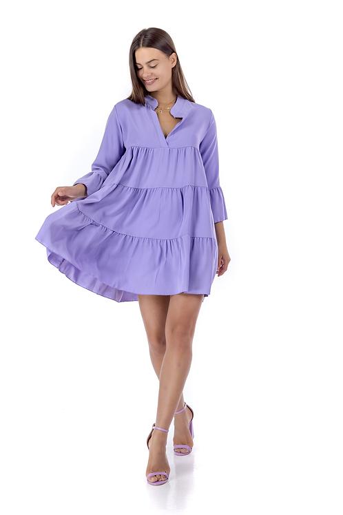 Μίνι μονόχρωμο φόρεμα