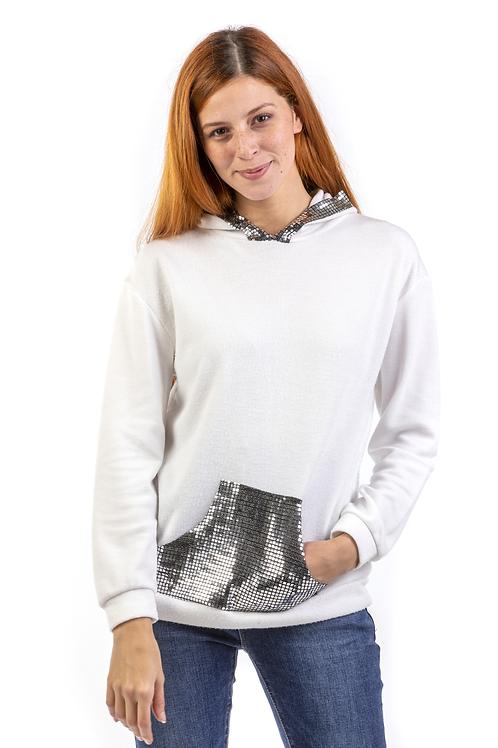 Μακρυμανική μπλούζα με στρας