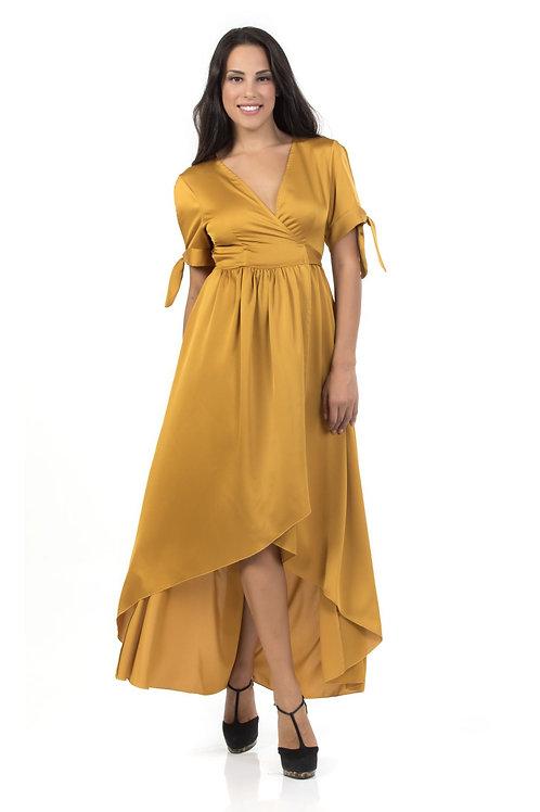 Φόρεμα Maxi τύπου satin