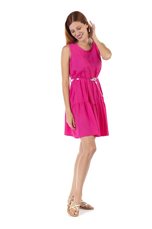 Μίνι φόρεμα με διάφανη ζώνη