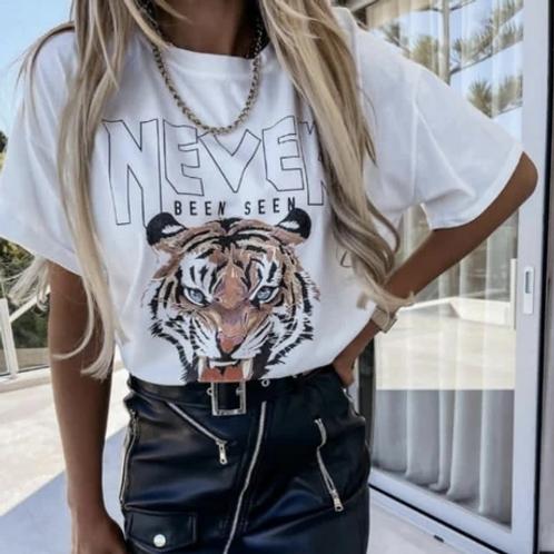 Μπλούζα με στάμπα τίγρη