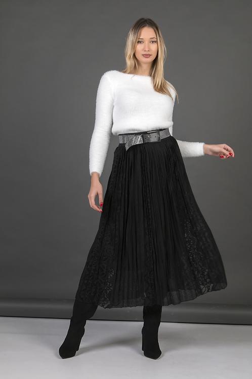 Μάξι δαντελωτή φούστα