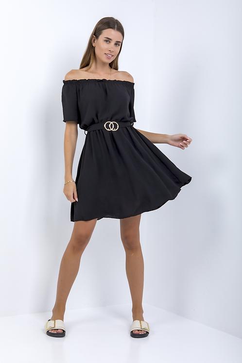 Μίνι φόρεμα με ακάλυπτους ώμους
