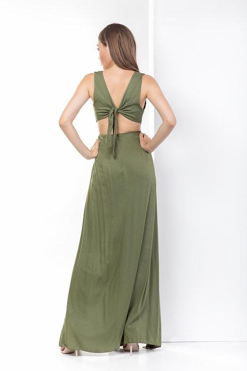 Maxi φόρεμα με σκίσιμο