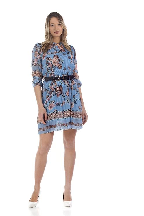 Πλισέ φλοράλ φόρεμα