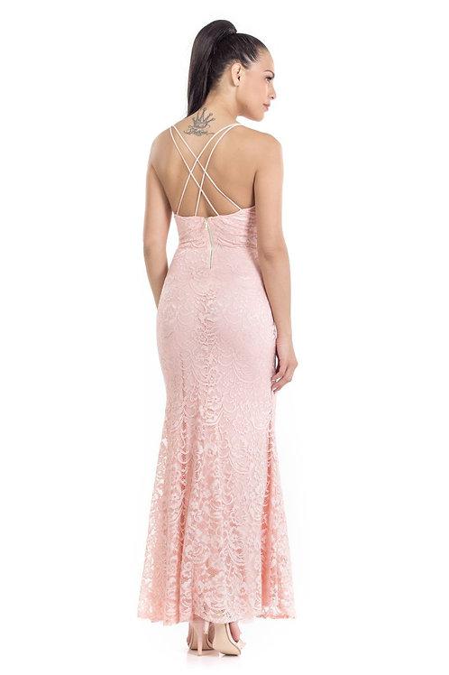 Φόρεμα Maxi με δαντέλα