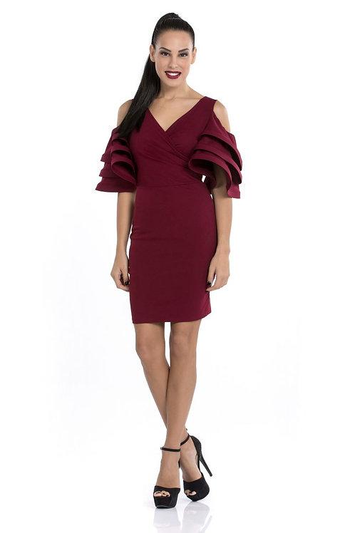 Φόρεμα με φραμπαλά