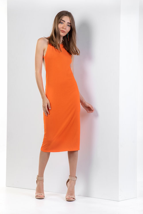 Midi εξώπλατο φόρεμα