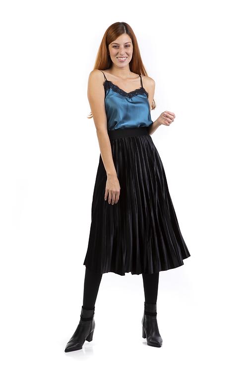 Μίντι βελούδινη φούστα