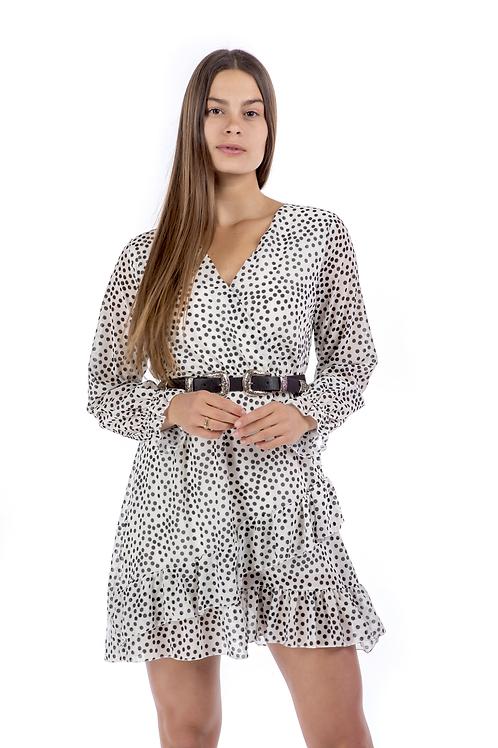 Μίνι πουά φόρεμα