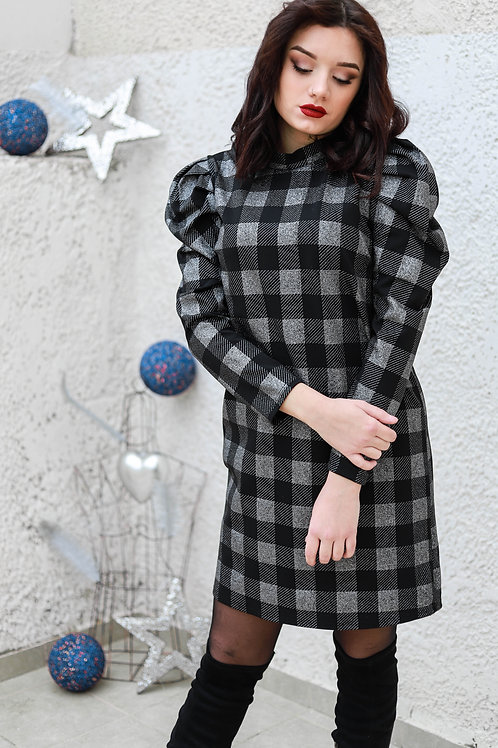 Lurex καρό φόρεμα