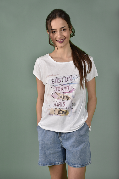 City names T-shirt