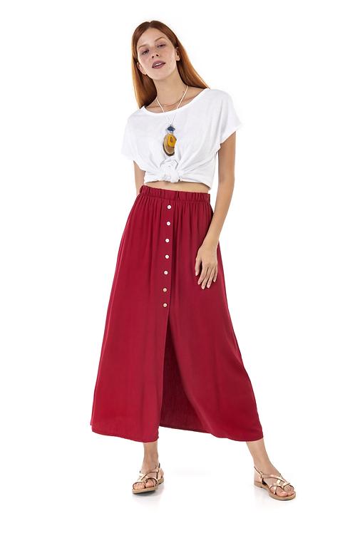 Ρετρό φούστα με κουμπιά