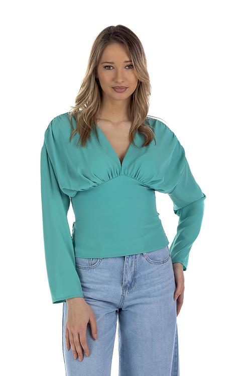 Μπλούζα με σχέδιο σφηγκοφωλιά στην πλάτη