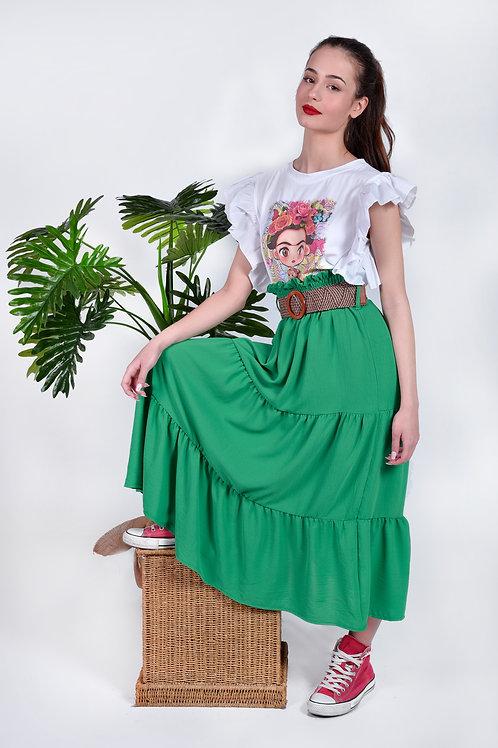 Maxi φούστα με ζώνη