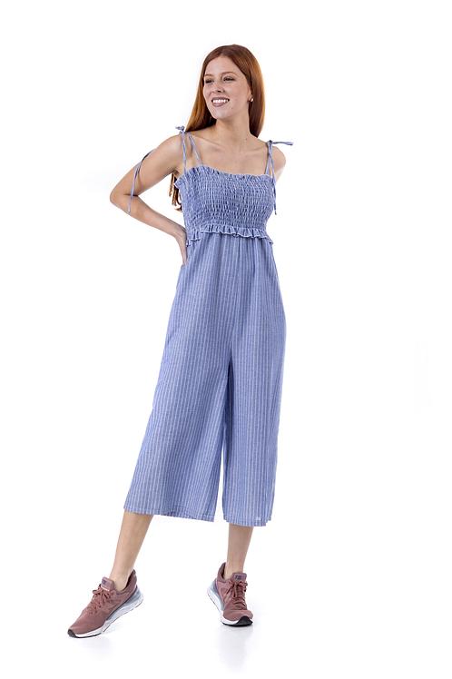 Ολόσωμη ριγέ φόρμα σφηκοφωλιά