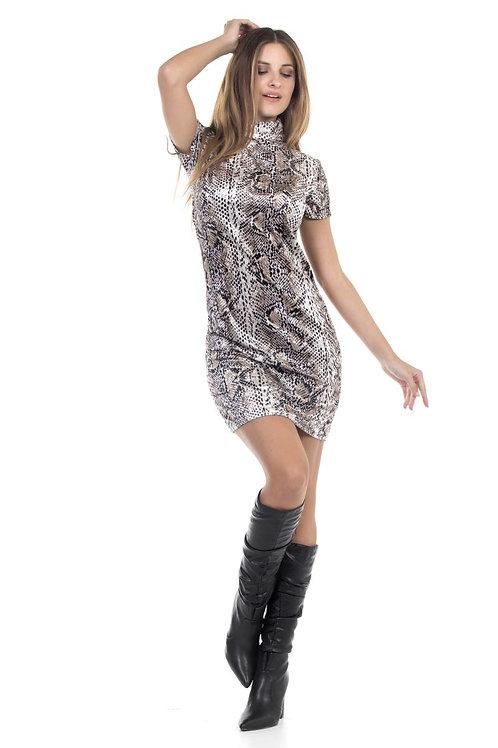 Φόρεμα casual animal print