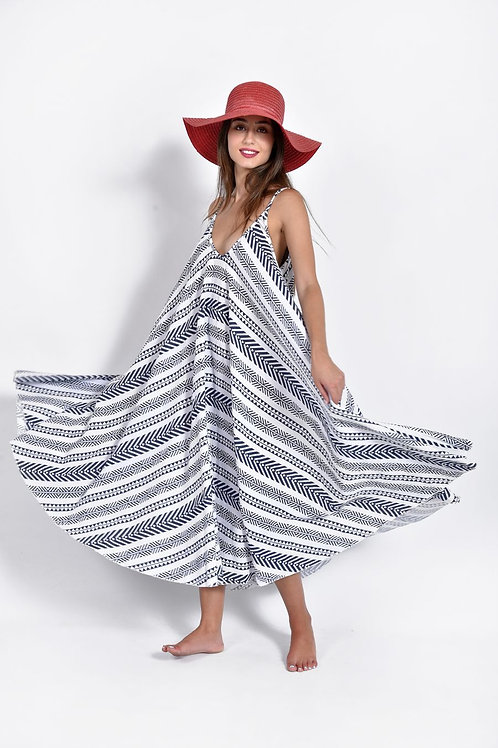 Tribal λινό φόρεμα