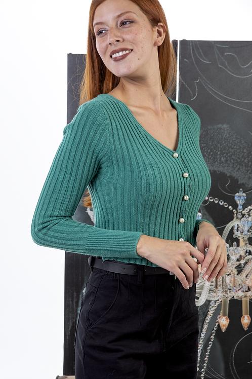 Μακρυμάνικη μπλούζα με πέρλες