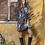 Thumbnail: Animal print καφέ φόρεμα