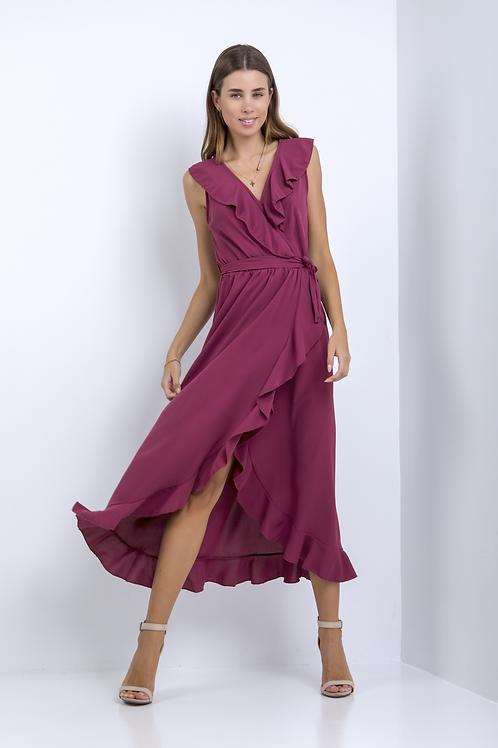 Μακρύ φόρεμα με φραμπαλά