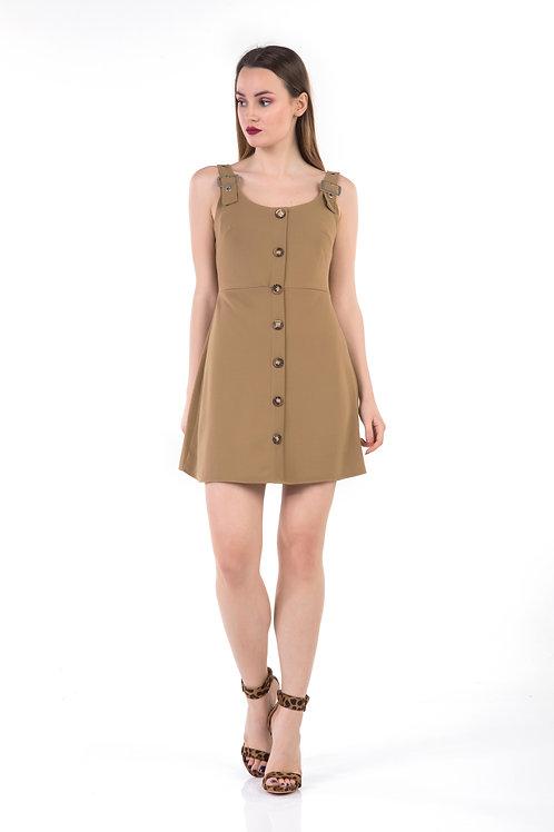 Mini φόρεμα με κουμπιά