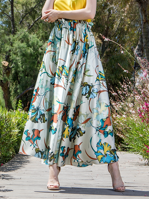 Maxi floral φούστα