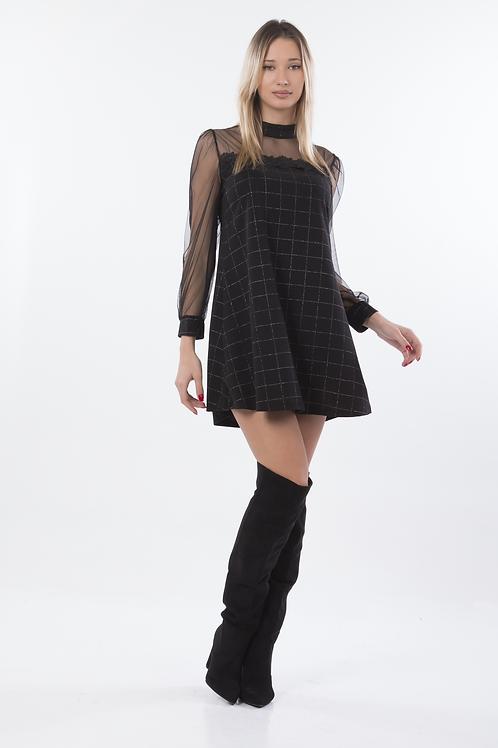 Μίνι φόρεμα με c-thru μανίκι