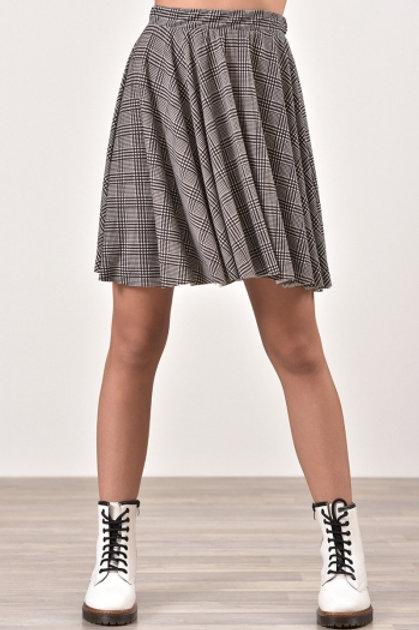 Γκρι καρό φούστα