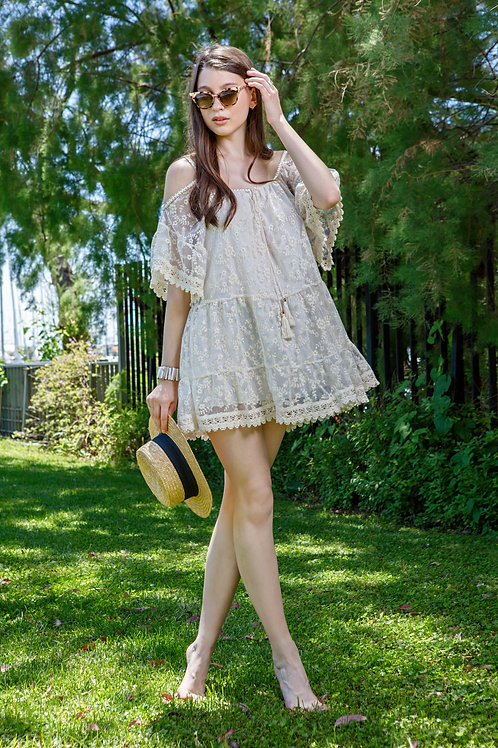 Boho φόρεμα με δαντέλα
