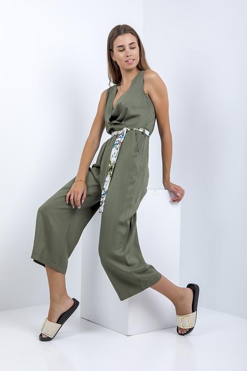 Ζιπ κιλοτ ολόσωμη φόρμα με τσεπες