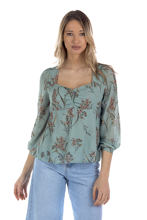 Φλοράλ μπλούζα