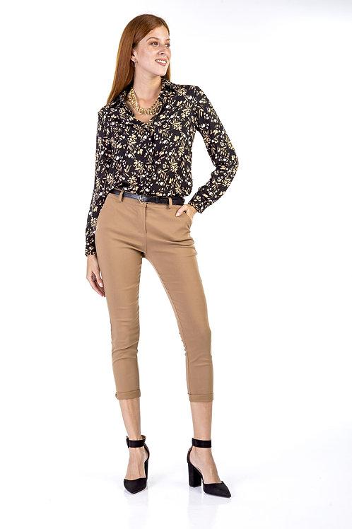 Μόνοχρωμο παντελόνι regular waist