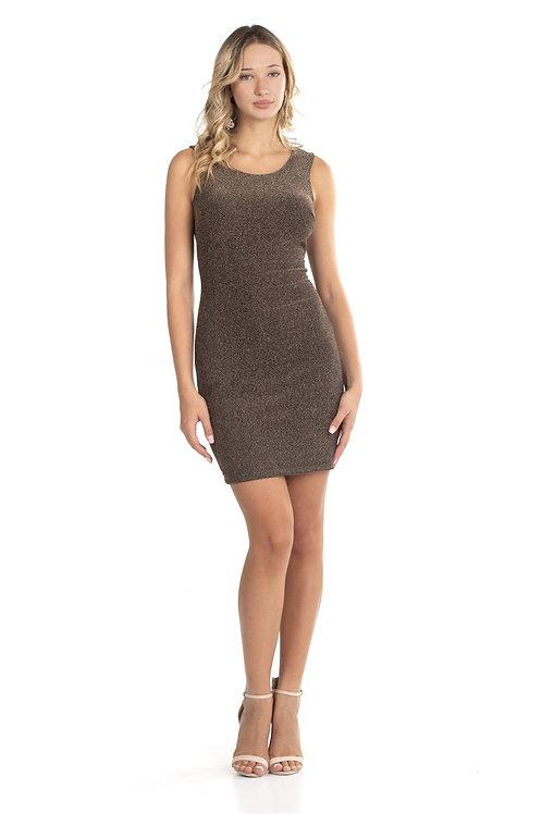 Φόρεμα lurex με σχέδιο χιαστί στην πλάτη
