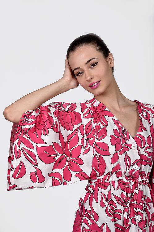 Floral with sleeve φόρεμα