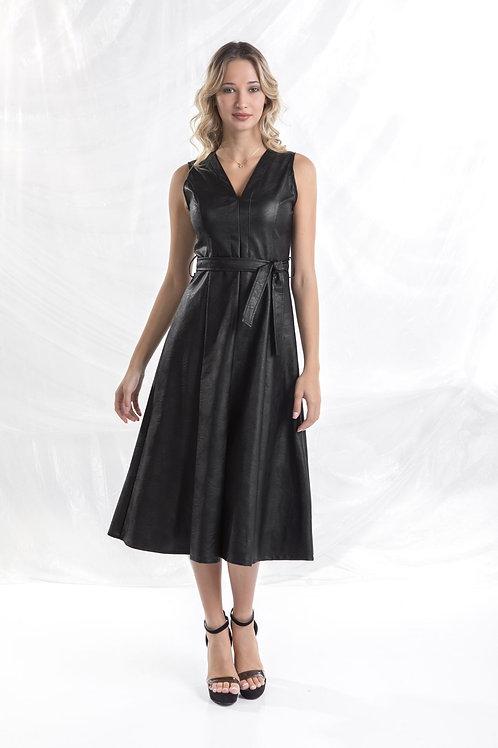 """Δερματίνη φόρεμα με """"V"""""""