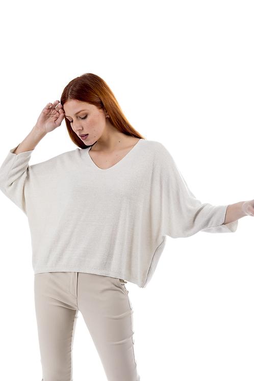 Φαρδιά lurex μπλούζα