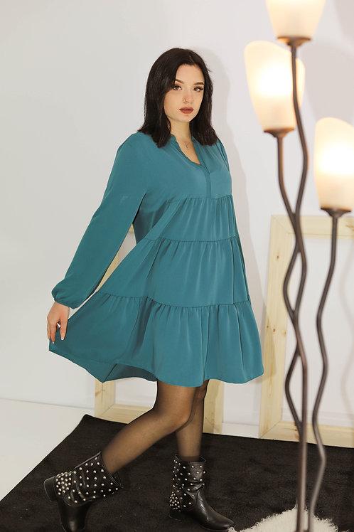 Μίνι μακρυμάνικο φόρεμα