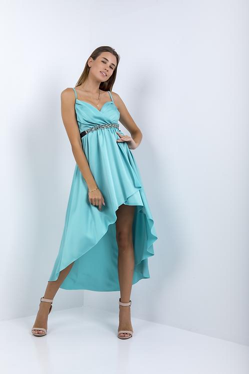 Ασύμμετρο φόρεμα τύπου σατέν