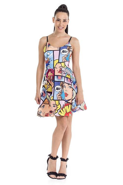 Φόρεμα comic print
