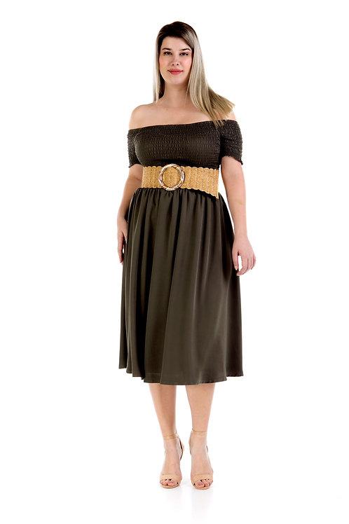Plus φόρεμα με ακάλυπτους ώμους