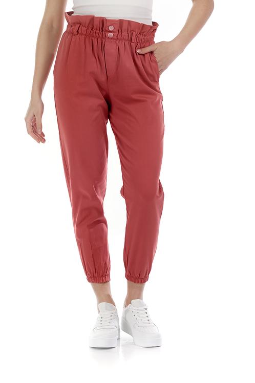 Ψηλόμεσο παντελόνι με λάστιχο στην μέση