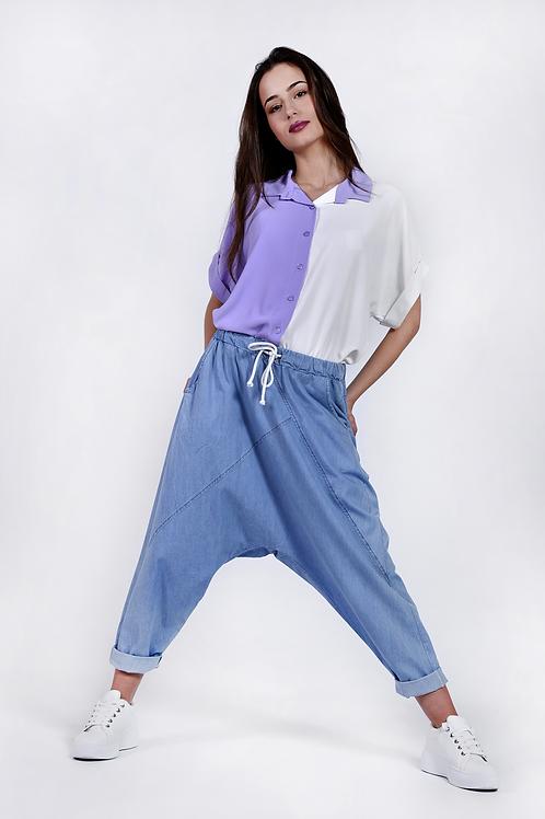 Harem jean παντελόνι