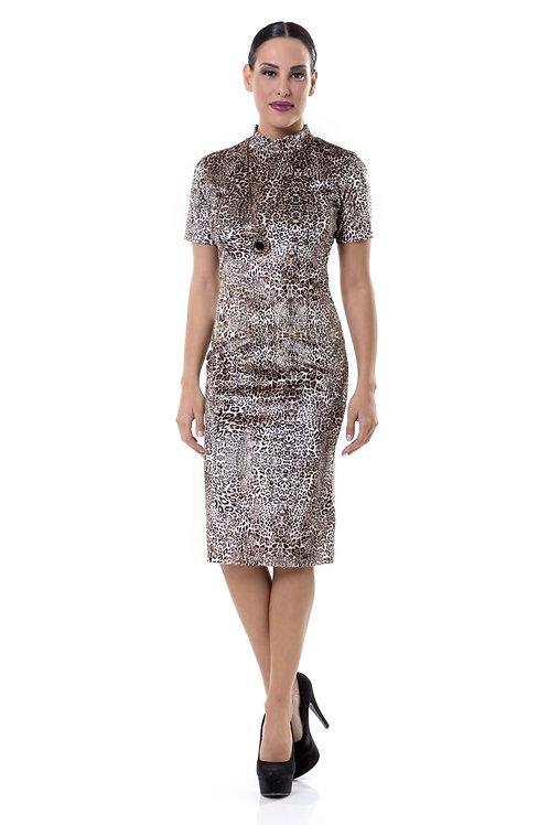 Φόρεμα βελούδινο animal print