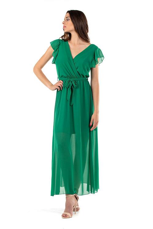 Maxi φόρεμα με φραμπαλά