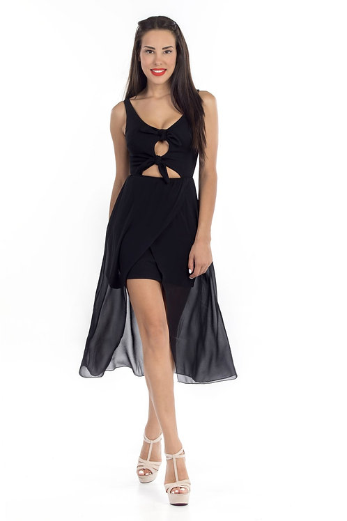 Φόρεμα με δέσιμο στο μπούστο