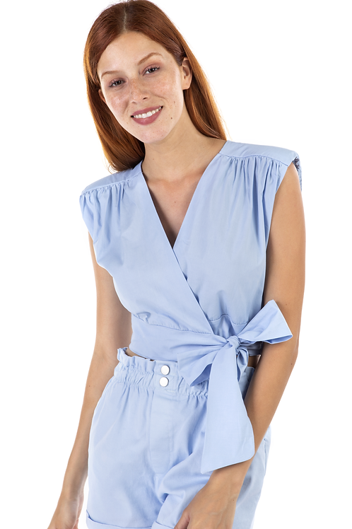 Κρουαζέ μπλούζα με βάτες