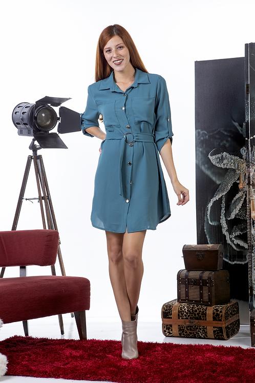 Μίνι φόρεμα με ζώνη