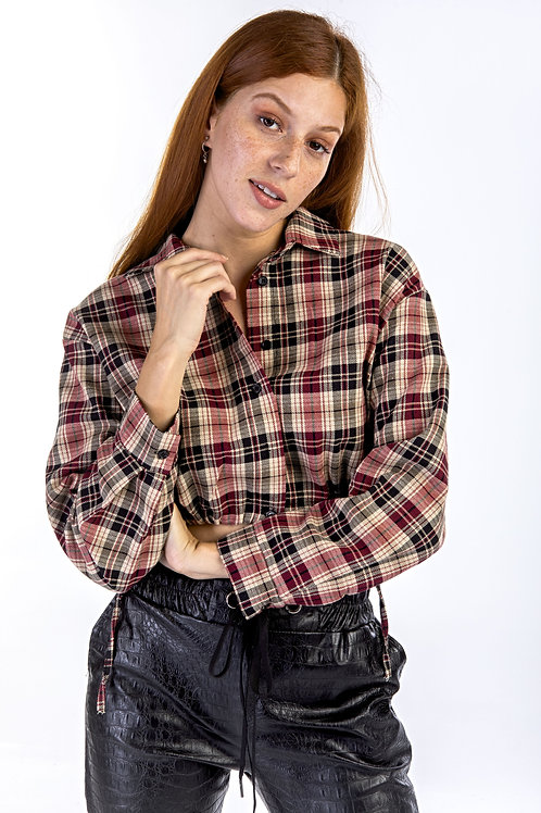 Crop καρό πουκάμισο